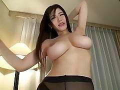 Japanese Big Tits Anri Okita Fuck in Panthyhose