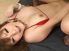 Dildo fucking Asian hottie