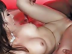 Riona Suzune tales good care of two cocks