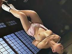 Mature bitch gets roped up and hung in a bdsm sess