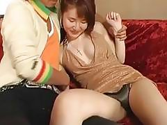 Miku Tanaka gives head and gets pounded hard in different poses