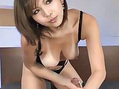 Busty Japanese naughty blowjob