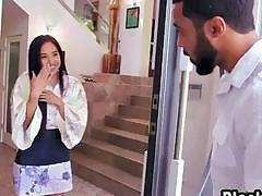 Big cock black boyfriend Anaru huge surprise with Japanese girlfriend Mila