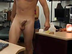 Asian cutie sells her massage table and fuck at the pawnshop