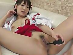 Busty Mikuni Maisaki sweet masturbation solo show