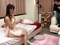 Beautiful Asian chick Tsubomi gives an awesome handjob