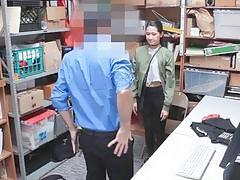 Suspect Jade Noir got on her knees to suck