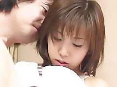 Mai fingered and fucked with sucked joystick