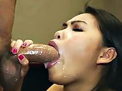 Hottie is arousing a hard boner with sucking