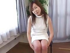 Knock-out Yumi gets her big tits and pussy played with toys