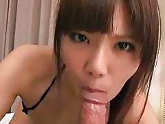 Nanaka Kyono blows cock in sexy Japanese pov style