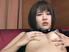 Dashing scenes of nudity by appealing Saya