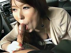 Drunk girl sucks a dick