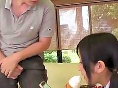 Suzu gets sucking cock in full xxx Japan show