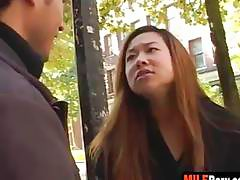 Asian MILf tourist gets her throat fucked hard