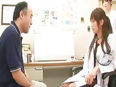 Cute nurse Rika gets fucked by her horny patient